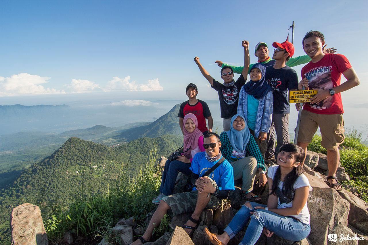 Team jalankece di pendakian Gunung Parang